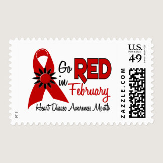 Heart Disease Awareness Month February Postage