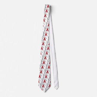 Heart Disease Awareness Month Flower Ribbon 1 Tie