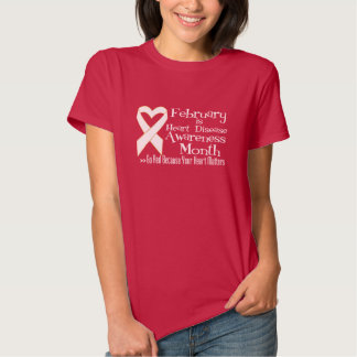 Heart Disease Awareness Month Go Red T-shirt