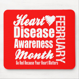 Heart Disease Awareness Month Mouse Pads