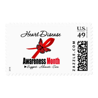 Heart Disease Awareness Month Recognition Postage Stamp