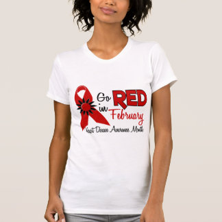 Heart Disease Awareness Month Red Ribbon 1.2 T-Shirt