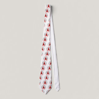 Heart Disease Awareness Month Red Ribbon 1.3 Tie