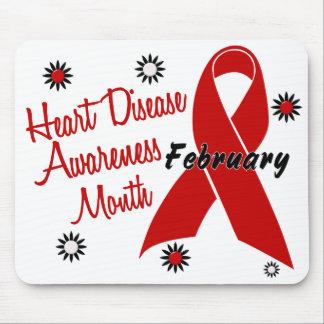 Heart Disease Awareness Month Ribbon 1.1 Mousepads
