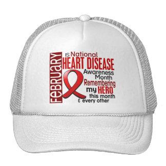Heart Disease Awareness Month Ribbon I2.2 Hat