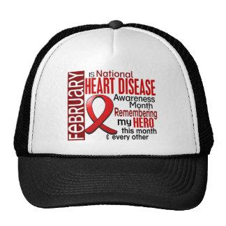 Heart Disease Awareness Month Ribbon I2.2 Hats