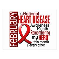 Heart Disease Awareness Month Ribbon I2.2 Postcard