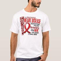 Heart Disease Awareness Month Ribbon I2.2 T-Shirt