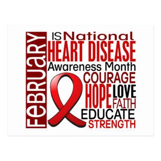 Heart Disease Awareness Month Ribbon I2.3 Postcard