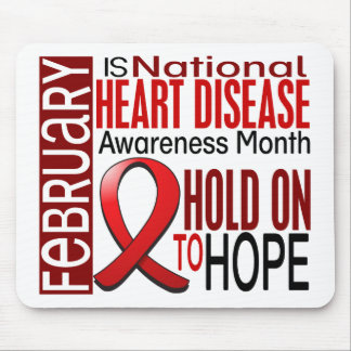 Heart Disease Awareness Month Ribbon I2.4 Mousepad