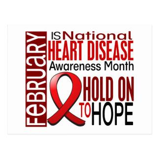 Heart Disease Awareness Month Ribbon I2.4 Postcard