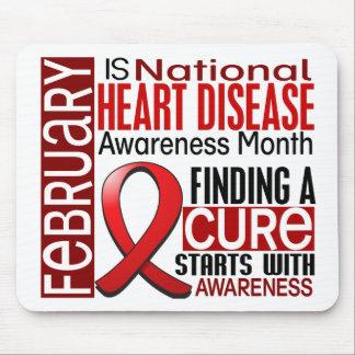 Heart Disease Awareness Month Ribbon I2.5 Mouse Pad