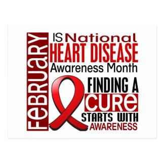 Heart Disease Awareness Month Ribbon I2.5 Postcard