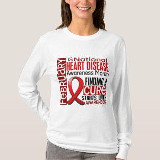 Heart Disease Awareness Month Ribbon I2.5 T-Shirt