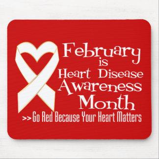 Heart Disease Awareness Month Ribbon It Matters Mousepad
