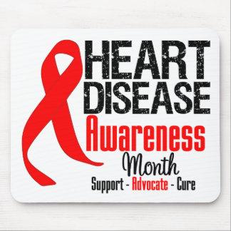 Heart Disease Awareness Month Ribbon Mousepads