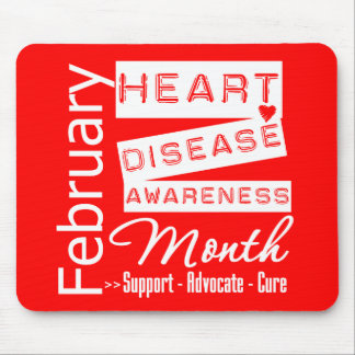 Heart Disease Awareness Month Support Mouse Pad