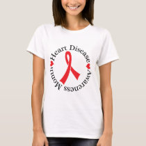 Heart Disease Awareness Month Womens T-shirt