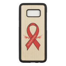 Heart Disease Awareness Ribbon with Wings Carved Samsung Galaxy S8 Case
