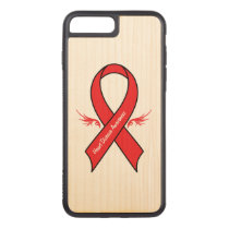 Heart Disease Awareness Ribbon with Wings Carved iPhone 8 Plus/7 Plus Case