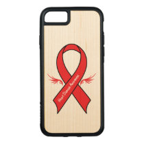 Heart Disease Awareness Ribbon with Wings Carved iPhone 8/7 Case