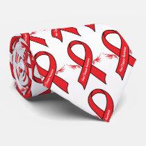 Heart Disease Awareness Ribbon with Wings Tie