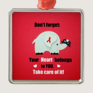 Heart Disease Awareness/Valentine's Day Metal Ornament