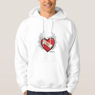 Heart Disease Band Aid Hoodie