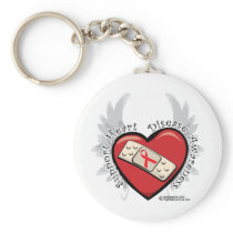 Heart Disease Band Aid Keychain