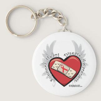 Heart Disease Band Aid Keychain
