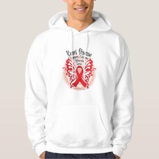 Heart Disease Butterfly 3 Hoodie