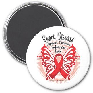 Heart Disease Butterfly 3 Magnet