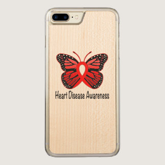 Heart Disease Butterfly Awareness Ribbon Carved iPhone 7 Plus Case