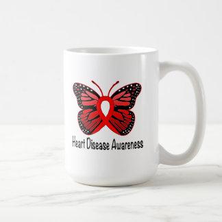Heart Disease Butterfly Awareness Ribbon Coffee Mug