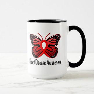 Heart Disease Butterfly Awareness Ribbon Mug
