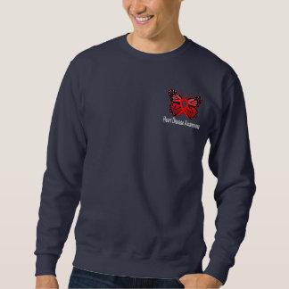 Heart Disease Butterfly Awareness Ribbon Sweatshirt