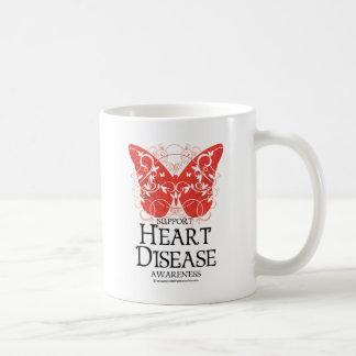 Heart Disease Butterfly Coffee Mug