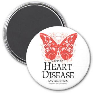 Heart Disease Butterfly Magnet