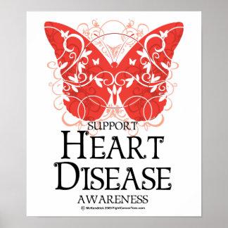 Heart Disease Butterfly Poster