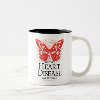 Heart Disease Butterfly Two-Tone Coffee Mug