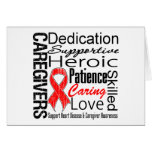 Heart Disease Caregivers Collage Greeting Card
