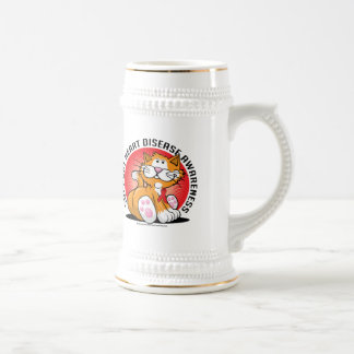Heart Disease Cat Beer Stein