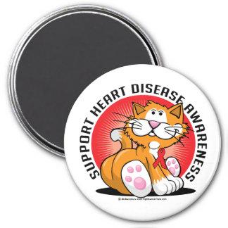 Heart Disease Cat Magnet