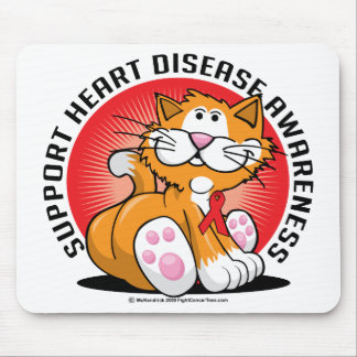 Heart Disease Cat Mouse Pad