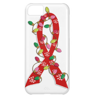 Heart Disease Christmas Lights Ribbon iPhone 5C Covers