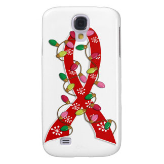 Heart Disease Christmas Lights Ribbon Samsung Galaxy S4 Cases