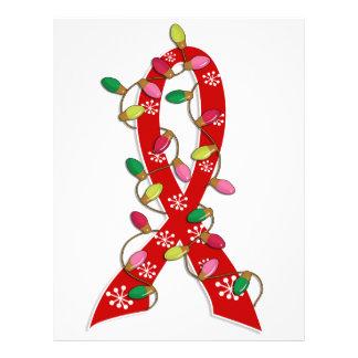 Heart Disease Christmas Lights Ribbon Custom Flyer