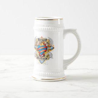 Heart Disease Cross & Heart Beer Stein