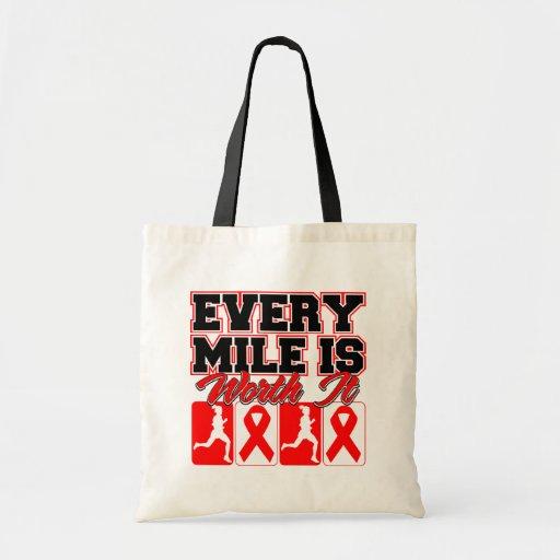 Heart Disease Every Mile is Worth It Bag