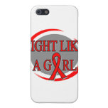 Heart Disease Fight Like A Girl Circular iPhone 5 Cases
